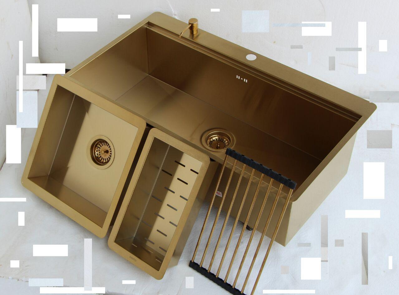 سینک طلایی باکسی بنتو