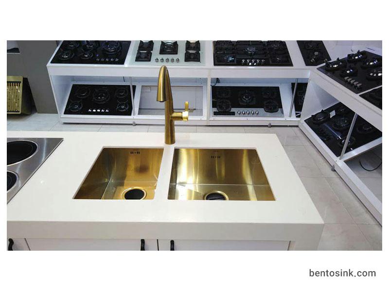 نصب سینک بنتو به صورت زیر صفحه ای